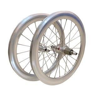 "Image 1 - SILVEROCK Alloy Wheelset 20"" 406 451Rim Caliper Brake High Profile 74 100 130 11s for Tricycle Folding Bike Minivelo Wheels"