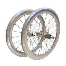 """SILVEROCK alaşım tekerlek 20 """"406 451Rim kaliper fren yüksek profilli 74 100 130 11s üç tekerlekli bisiklet için katlanır bisiklet minivelo tekerlekler"""
