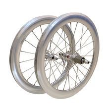 SILVEROCK jeu de roues de Tricycle pliant, 20 pouces, 406 451, jante avec étrier et frein haut profil 74 100 130 11s