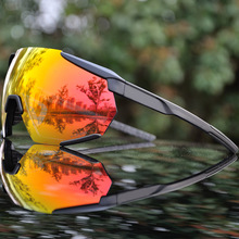 Brand 3 Lens Bike Cycling Glasses Outdoor Sports Cycling Goggles Mountain Bicycl