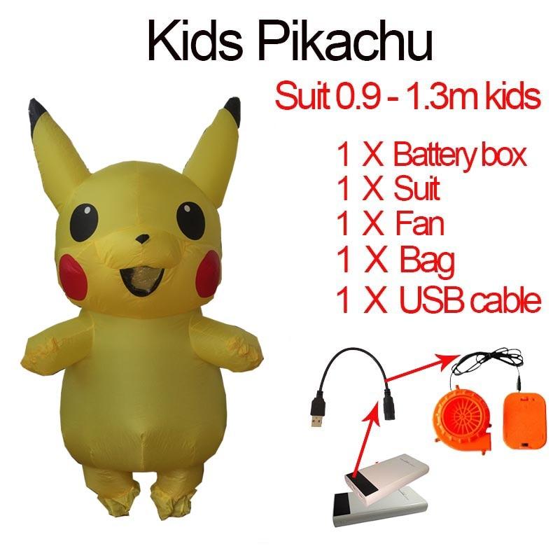 Homens Inflável Adulto Traje Pikachu Anime Cosplay Carnaval Fantasia Pokemon Pikachu Traje Da Mascote do Dia Das Bruxas Para Crianças Mulheres