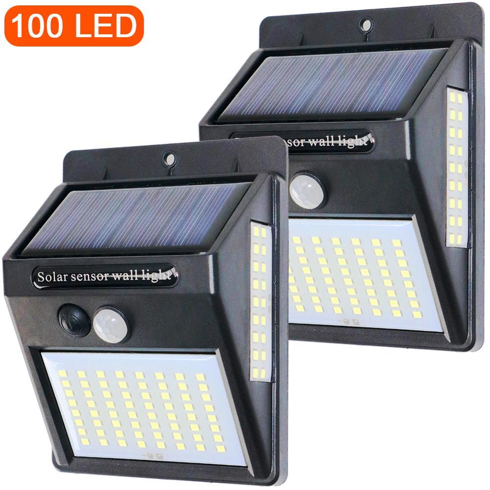PIR Motion Sensor 20 48LED 100LED Sunlight Control Solar Energy Street Light Yard Path Home Garden Solar Power Lamp Wall Light