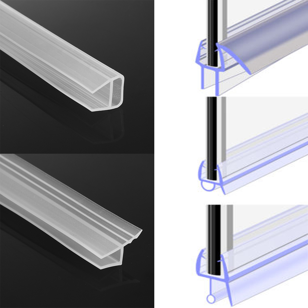 1M 6-12mm F U H Shape Glass Door Sealing Strips Silicone Rubber Window Glass Seal Strip Bath Screen Door Weatherstrip
