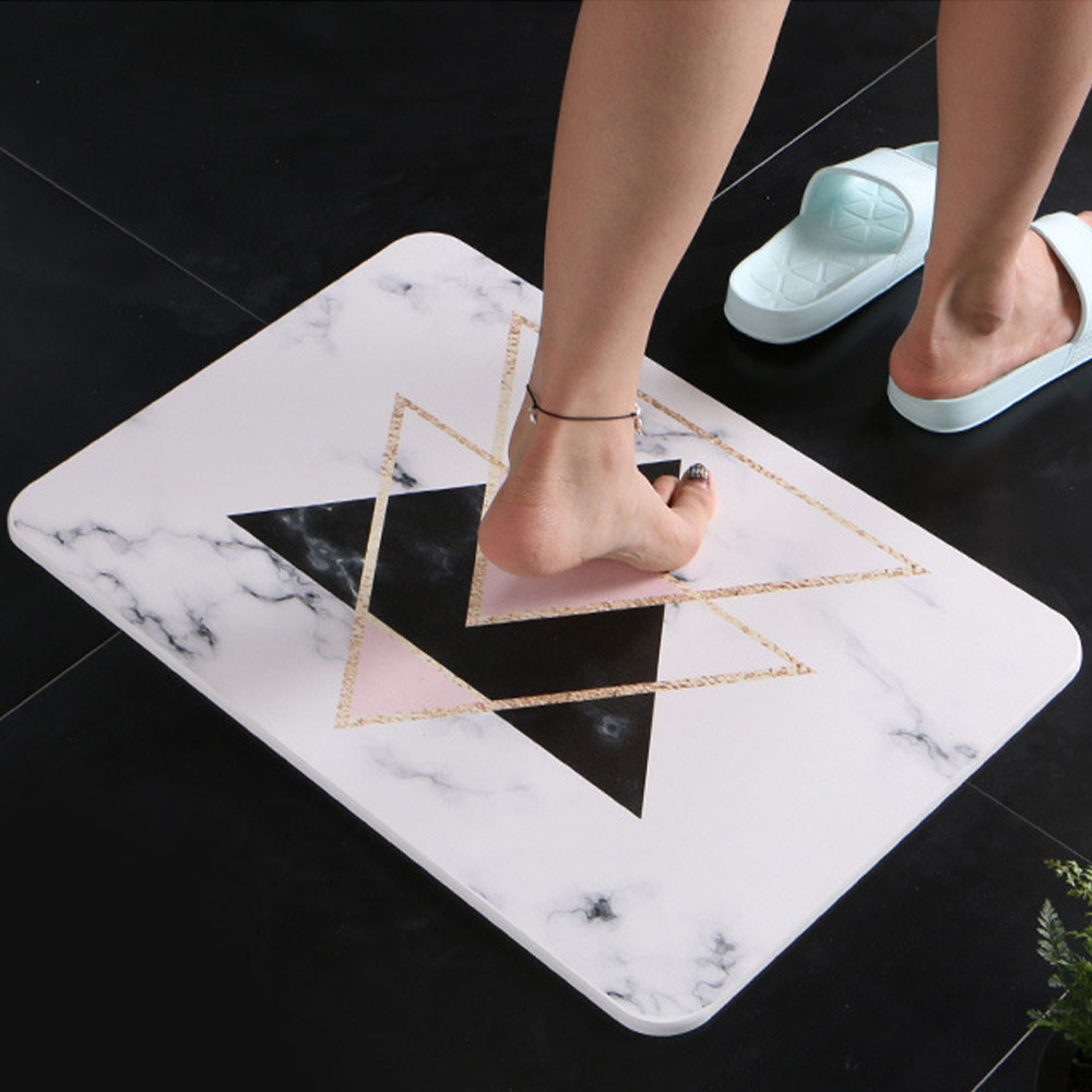Diatomaceous Natural Foot Mat Durable Fast Drying Absorbent Bathroom Rug Mats Anti-slip Mud Floor Shower Bath Mat Carpet