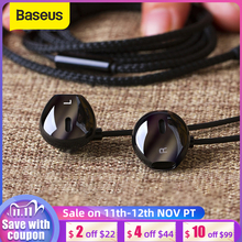 Baseus 6D Stereo In ear Earphone Headphones Wired Control Bass Sound Earbuds for 3.5mm Earphones