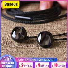 Baseus 6D ستيريو في الأذن سماعات سماعات السلكية التحكم باس الصوت سماعات ل 3.5 مللي متر سماعات