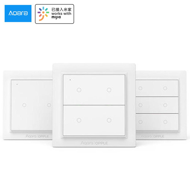 Internationale Versie Aqara Opple Draadloze Smart Switch Geen Bedrading Nodig Werk Met Smart Home App Apple Homekit Wandschakelaar