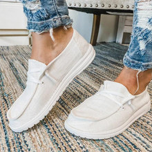 Woman Flats Shoes Fabric Loafers Ladies Canvas Shoe