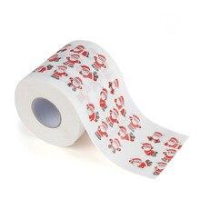3 слоя Санта Клаус для ванной, рулон туалетной бумаги, рождественские принадлежности, Рождественская декоративная ткань, туалетная бумага, папье Toaletowy Kerst Toiletpapier