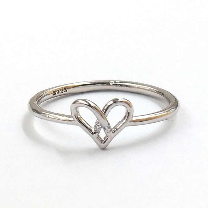 3 cores melhor venda anel de amor atado feminino simples novo amor oco coração anel coração coração anel presente do dia dos namorados