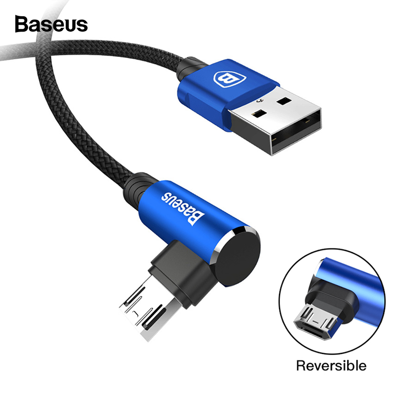 Baseus Reversible Micro USB Cable Fast Charging Charger Micro Wire Microusb Cable For Samsung Xiaomi Android Mobile Phone Cables-in Mobile Phone Cables from Cellphones & Telecommunications on AliExpress