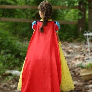 Image 4 - Disney Kinder Kleider für Mädchen Schnee Weiß Kostüm Prinzessin Kleid Halloween Weihnachten Party Cos kinder Kleidung Neue Jahr