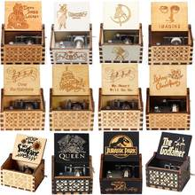 2021 caixa de música de madeira por atacado um monte de themesmy coração vai em jurássico parque rainha presentes de aniversário presente de natal
