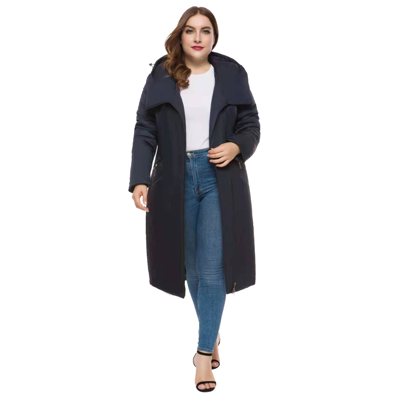 Women Long section Winter coat thickened parkas women slim Medium and long winter down cotton ladies parka