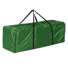 Grand sac de rangement vert imperméable pour coussins de meubles, sacs de rangement pour arbres de noël, sacs de protection pour jardin