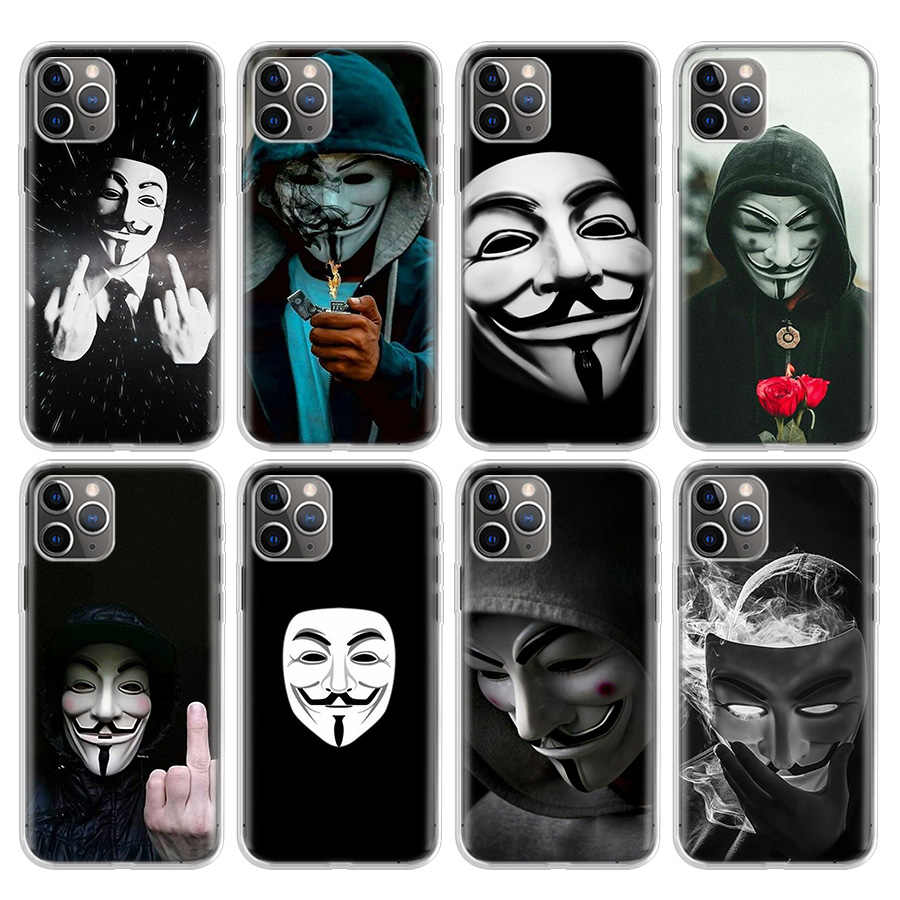Anonymous Phone Case For Apple Iphone 11 12 Pro MIni 7 7G 8 8G 6S 6 6G X Xr Xs Max Plus 5G 5S SE Hot Cover Coque Shell