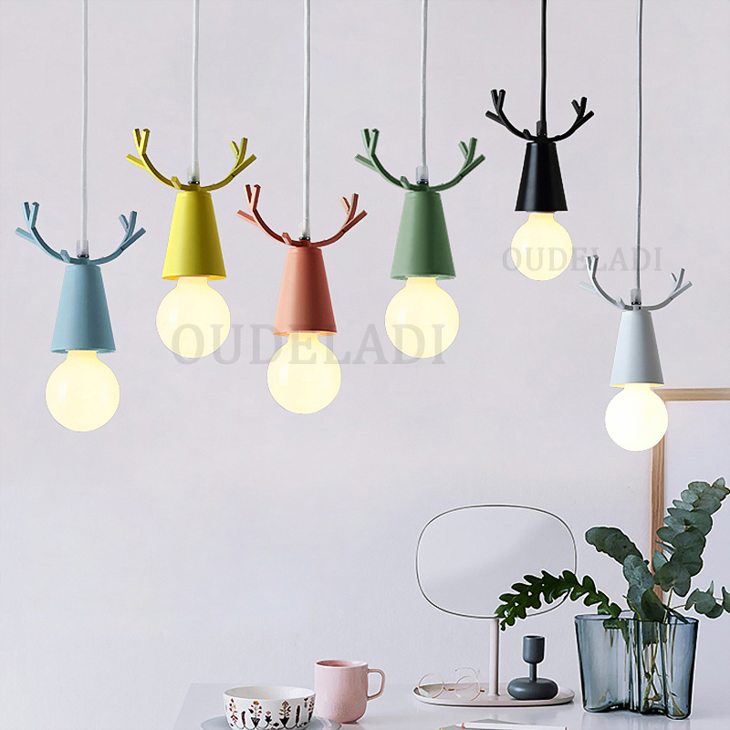 Nordic Modern Creative Color Macarons Pendant Lights Kid Bedroom Warm Cute Pendant Lamp Restaurant Bar Decor Hanging Light