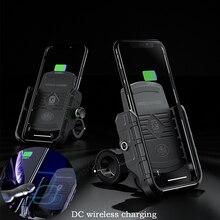 """360 soporte giratorio para teléfono de motocicleta DC de carga inalámbrica soporte para teléfono móvil de motocicleta Universal de 3,5 """"a 7,5"""" Smartphones"""