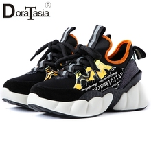 DORATASIA Brand New Fashion women's Genuine Leather Mixed Colors Sneakers Shoes Woman Casual Soft Autumn Spring Flats Girl Shoes brand fashion women sneakers genuine leather platform casual shoes woman new spring autumn flats breathable sports shoes