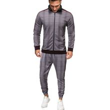 2021 Fashion Zipper Type Autumn And Winter New Jacket, Men's Digital Checkered Leisure Suit, Youth Popular Sports S-2XL