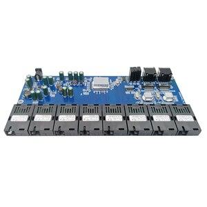 Image 2 - מתג Gigabit Ethernet סיבים אופטי מדיה ממיר 8 יציאת 1.25G SC 2 RJ45 10/100/1000M PCBA לוח