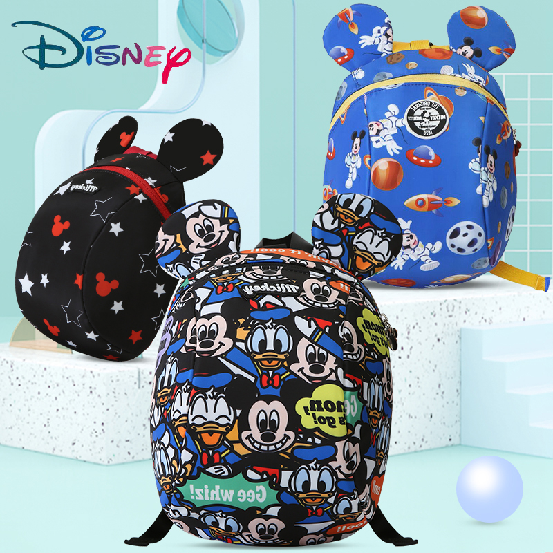 Disney Cartoon Harnesses Toddler Anti Lost Backpack Antilost Wrist Link Child Schoolbag Walking Leashes Bag Wristband Belt New