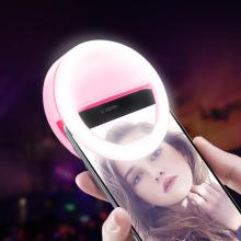 Заполняющее световое кольцо для смартфона селфи светодиодный зеркало для макияжа с подсветкой подарок для девочки портативная лампа с зажимом на батарейках