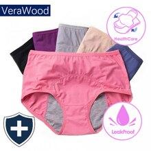 Menstrual Panties Women Cotton Leak Proof Period Briefs Healthy physiological Underpants Ladies Antibacterial pants