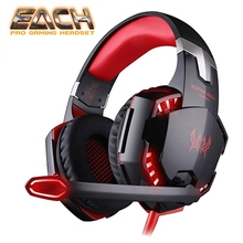 KOTION EACH Casque LED Lights Gaming Headphones With Microphone For Computer Stereo Headset pc and Gamer Gaming Mouse Mice pads cheap Dynamic CN(Origin) Wired 108±3dBdB None 2 0mm Line Type 3 5mm g2000g9000 16ΩΩ