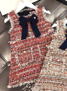 Image 3 - תינוק בנות מערבי אופנה אפוד שמלת מסיבת שמלת ילדה המפלגה נסיכת שמלה חדש KidsSpring סתיו חורף בגדים