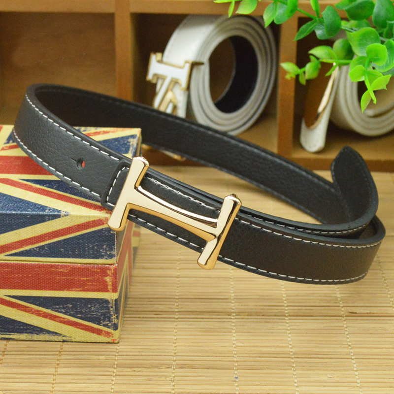 2018 H Buckle High Quality PU Child Belt Fashion Leisure Designer Children's Belt Boys And Girls Cowboy Belts Candy Colors 80CM