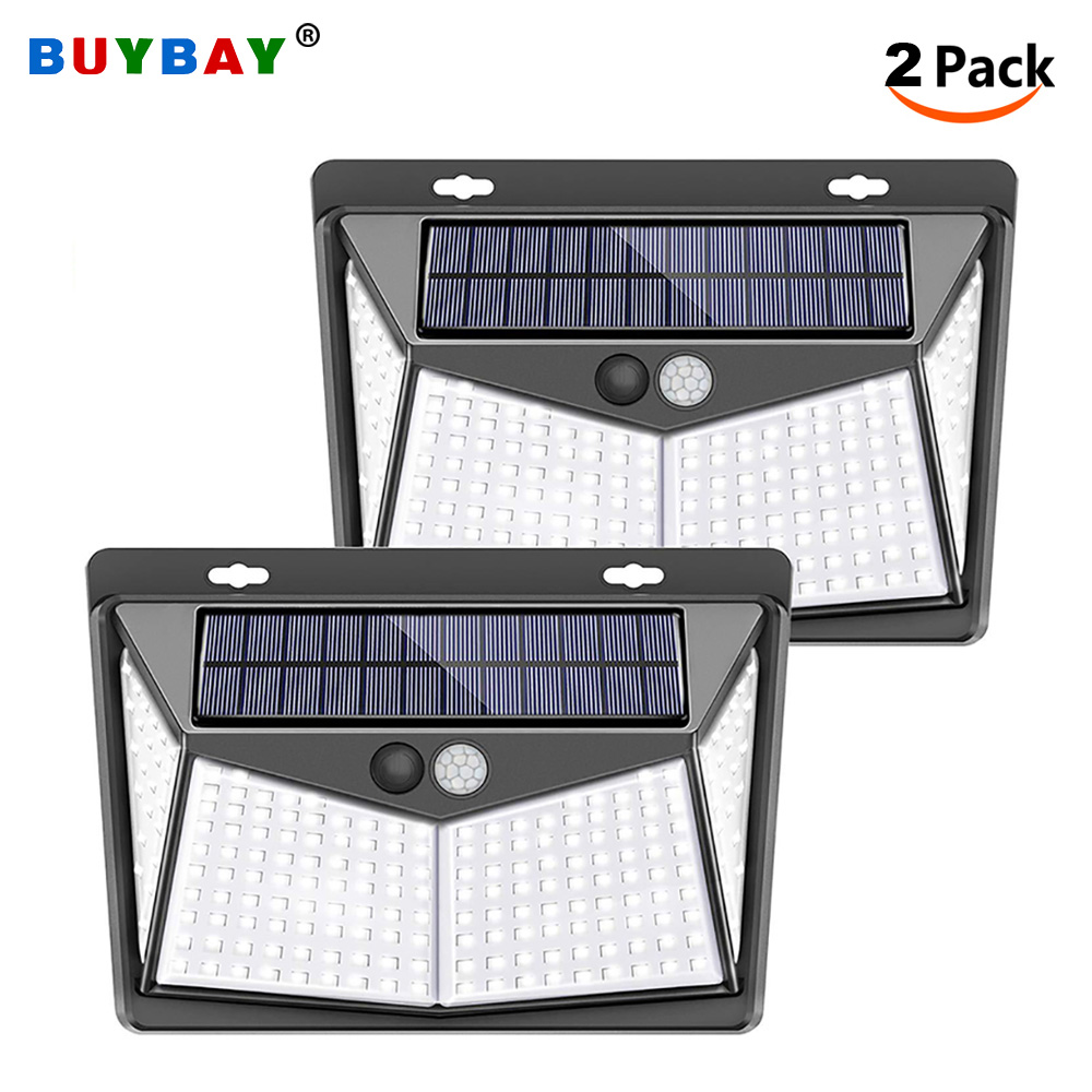 136/208 LED Solar Motion Sensor Lights Outdoor Led Solar Powered Lamp 3 Modes IP65 Waterproof Garden Wall Light For Yard Path