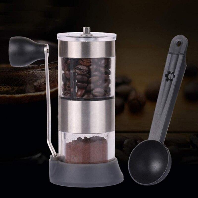 Ev ve Bahçe'ten Kahve Kepçeleri'de Ölçüm Tamping kahve kaşığı sabotaj siyah Espresso standı plastik çok fonksiyonlu kahve kaşıkları çay baharat kaşık title=