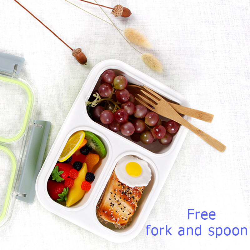 Image 2 - Leakproof Lunch Box Separate Compartments Children School Bento Box Food Container Microwave Dinnerware Lunch Box for Kids