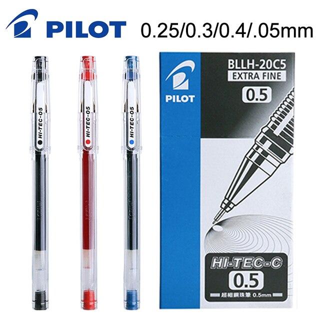 10 قطعة الطيار HI TEC C هلام القلم BLLH 20C3 BLLH 20C4 BLLH 20C5 0.3 مللي متر 0.4 مللي متر 0.5 مللي متر 0.25 مللي متر المالية القلم اليابان