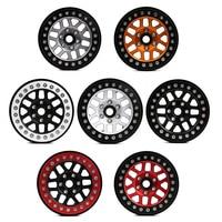 INJORA 4PCS Metal 2.0 Beadlock Rim Wheel Hub Fit 1.9 Tires for 1/10 RC Crawler Axial SCX10 90046 SCX10 III AXI03007 TRAXXAS TRX4 2
