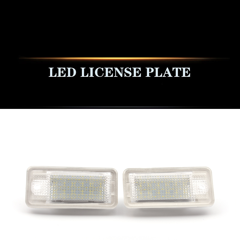 For Old Audi A4/B6/B7/A3/Q7/A6L/A8A5 refitted and decoded license Plate Lamp LED Lamp Assembly
