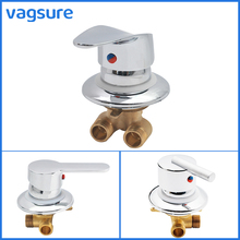 цена на 1 Way Brass Shower Valve Diverter Shower Cabin Faucet Switch G1/2 Cold&Hot Water Mixing Valve Shower Mixer Tap for Shower Room