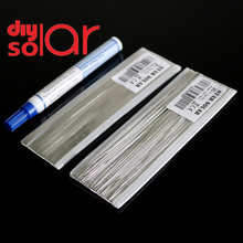 PV Ribbon Solar Cell tab bus bar wire for Tabbing wire for DIY connect 951 kester Flux Pen Soldering Rosin PV Solar Panel