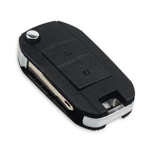 Image 2 - KEYYOU Modified Remote Car Key Shell Fob For Peugeot 307 107 207 407 Citroen C2 C3 Xsara 2 Buttons Key Case HU83/VA2/NE73 Blade