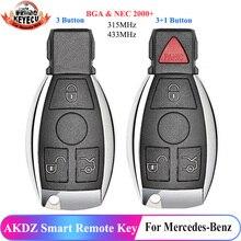 KEYECU זול AKDZ חכם מרחוק מפתח 3 כפתור/4 כפתור 315MHz/433MHz עבור מרצדס בנץ BGA & NEC 2000 +