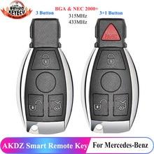 KEYECU Cheap AKDZ Smart Remote Key 3 Button/4 Button 315MHz/433MHz per mercedes benz BGA & NEC 2000