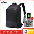 BOPAI повседневный деловой мужской рюкзак для путешествий 15 6-дюймовый водонепроницаемый рюкзак для ноутбука с USB зарядкой крутая школьная су...