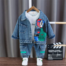 Children Jeans Clothing Tracksuits-Set Coat Toddler Baby-Boy Denim Spring Casual Cotton