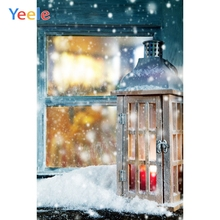 Yeele Christmas Photocall Bokeh Snow Lantern Window Photography Backdrops Personalized Photographic Backgrounds For Photo Studio