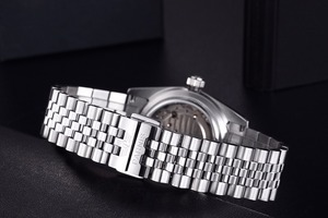Image 5 - Parnis นาฬิกาผู้ชาย 2020 แบรนด์หรูทองอัตโนมัตินาฬิกาผู้ชายผู้หญิงเพชรสร้อยข้อมือสแตนเลสนาฬิกา