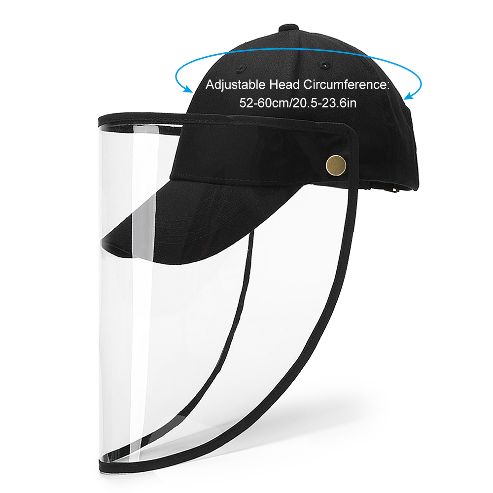 Outdoor Protective Cap Removable Rotatable Transparent Face Shield Cover Men Women Full Face Hat For Camping Hiking Fishing