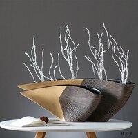Geometric Sharp Corner Semicircle Radian Shape Resin Vase Ornaments Modern Vase Home Living Room Flower Arrangement Crafts Decor