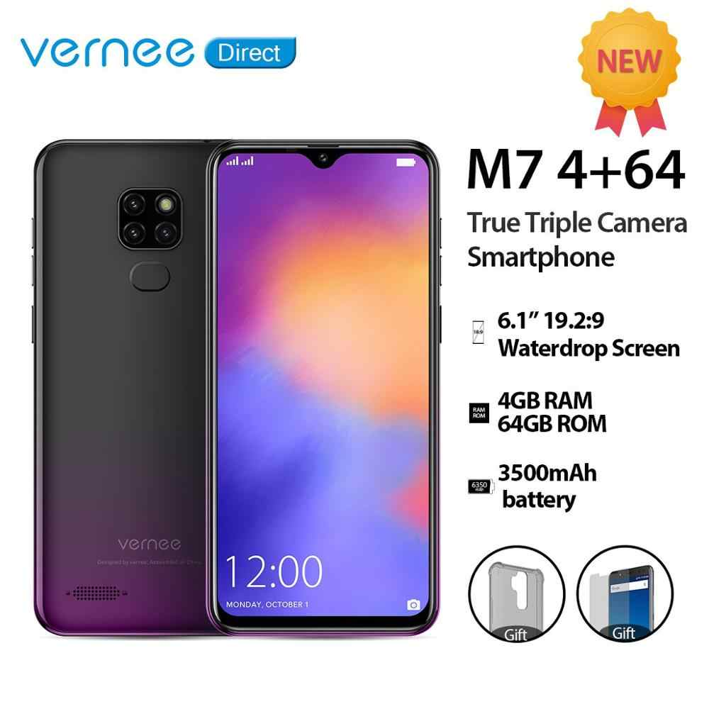 "Vernee M7 6.1 ""Waterdrop Screen smartphone 4GB 64GB véritable Triple caméra 5 V/2A Charge rapide double SIM Face ID 4G LTE téléphone portable"