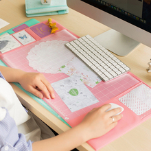 Multifunction Mouse Pad Desk Organizer Waterproof PVC Anti Slip Stationery Set Protect Wrist Warmth Office Supplies